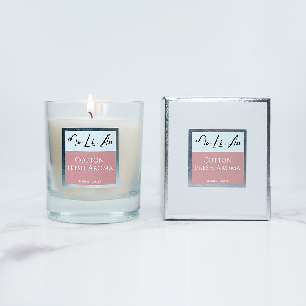 Cotton Fresh Aroma Scented Candle