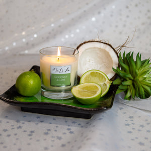 Coconut & Lime Scented Candle