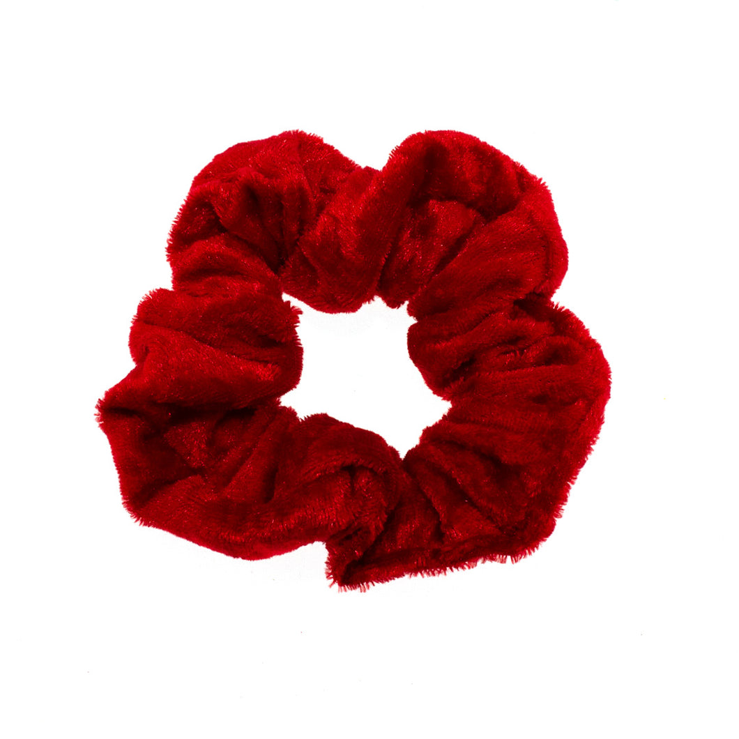 Berry Red Velvet Scrunchie