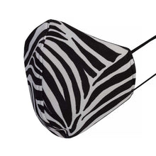 Load image into Gallery viewer, Soft & Stretchy Shaped Mask, Zebra