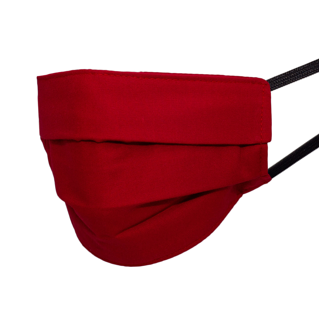 Basic Red Pleated Mask