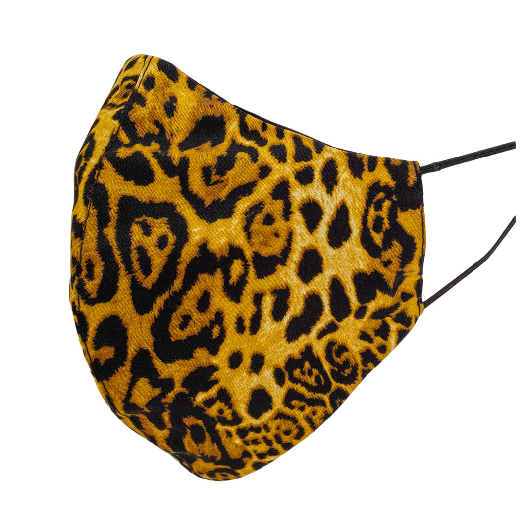 DESIGNER Animal Print Shaped Mask, Yellow