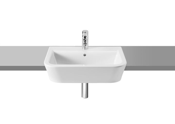 Semi recessed basins and inset basins