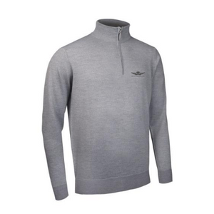 Glenmuir Jasper Sweater - Light Grey (Club Crested)