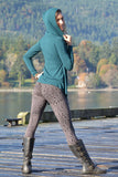 Indira Tights with Leopard Print