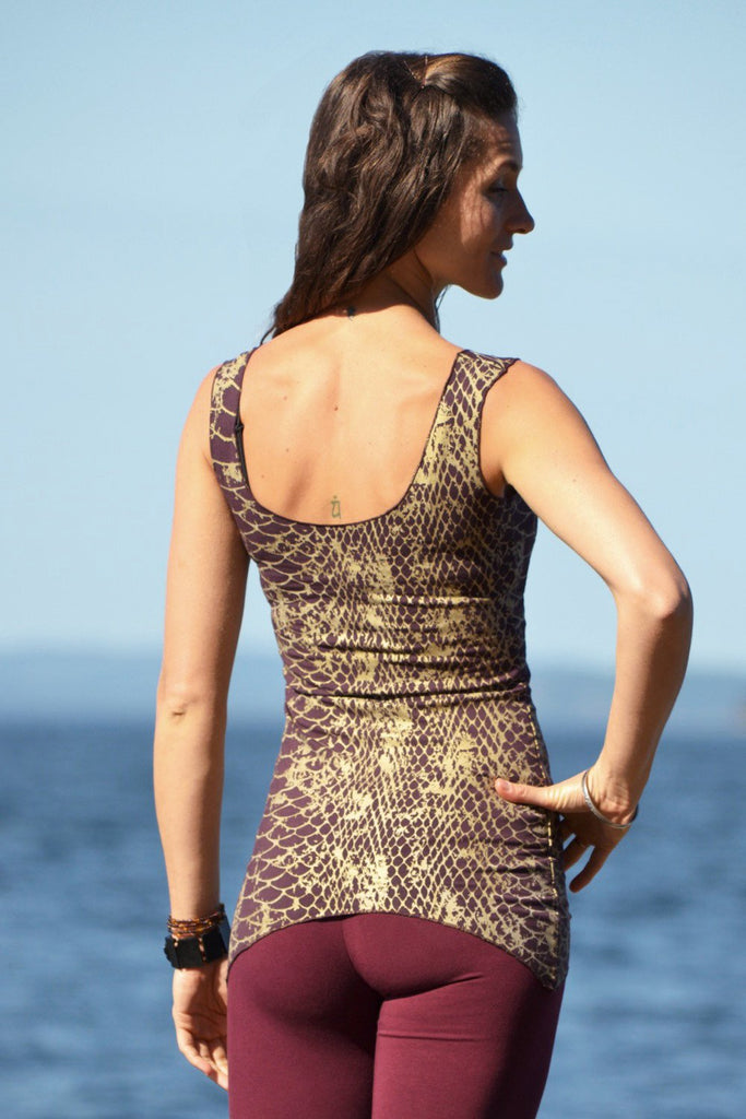 Dragonfly Tank with Reptilia Print