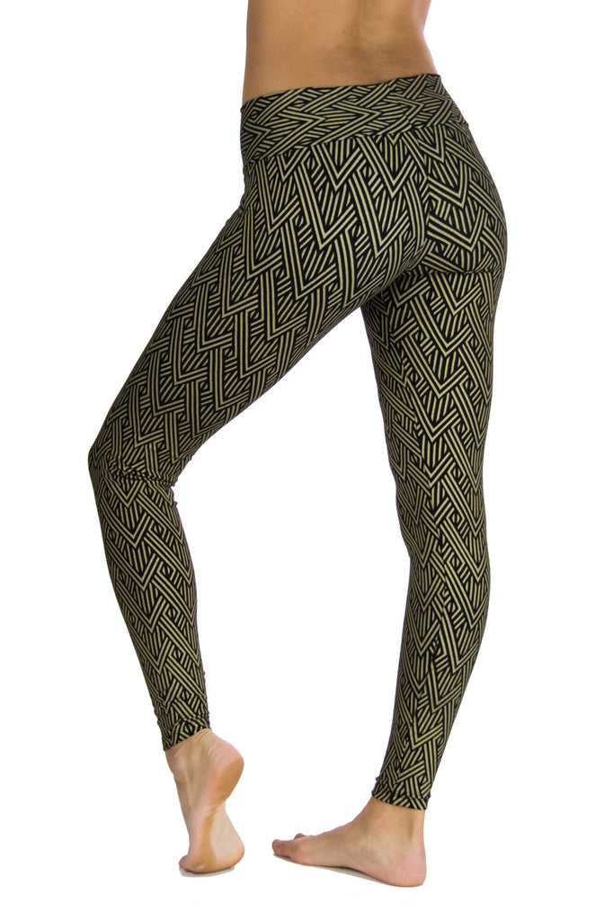 Indira Tights with Deco Arrow Print