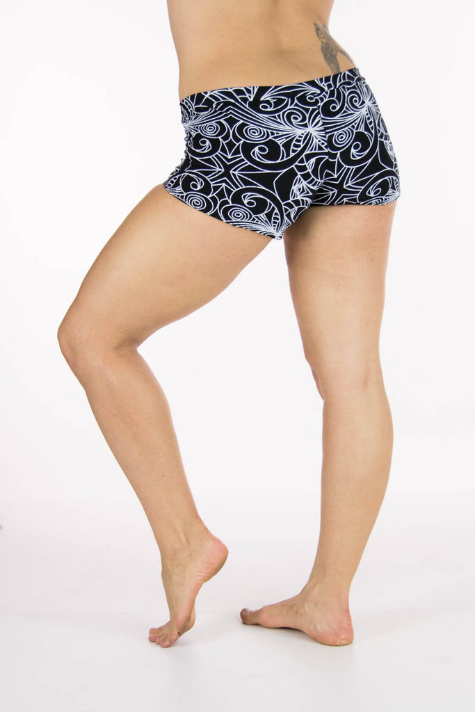 Kali Bootyshorts with Tribal Swirl Print