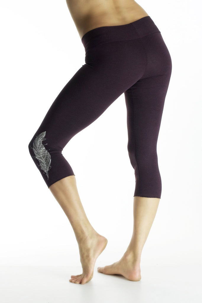 Malaya Yoga Tights with Feather Print