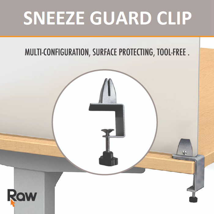 Clip for Sneeze Guard Panel - Each