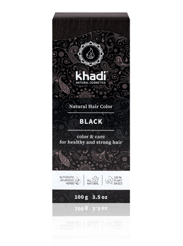 khadi Natural Hair Color - Black