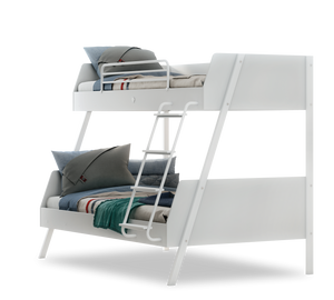 Large Bunk Bed White (90x200-120x200 Cm)