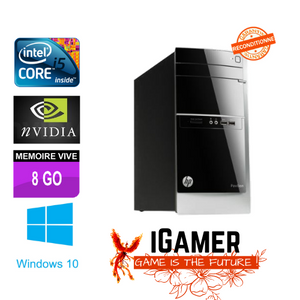 PC Gamer HP i5 3,30 Ghz, GTX 1050 Ti 4Go, HDD 500 Go, 8 Go RAM, Wifi