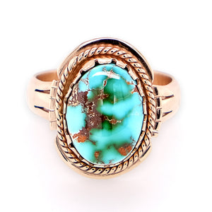 Gold Turquoise Ring by Gary Glandon