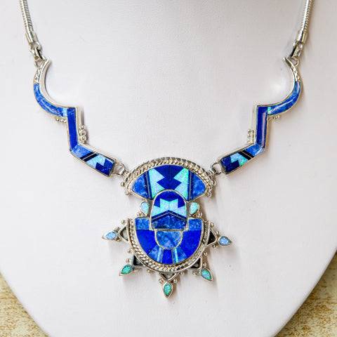 David Rosales Blue Sky Aztec Necklace