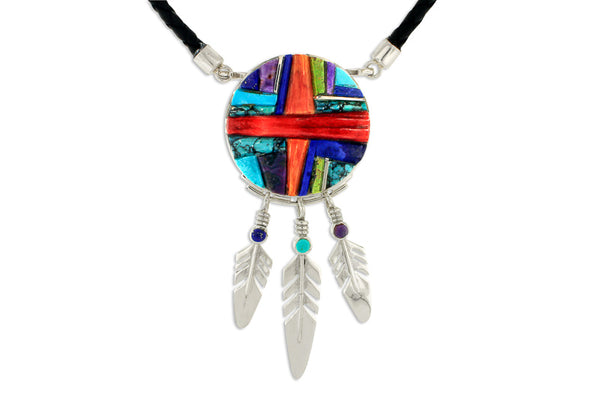David Rosales Indian Summer Feather Necklace