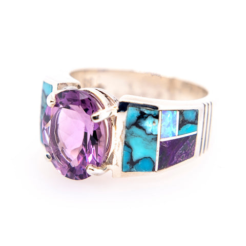 David Rosales Shalako Amethyst Ring