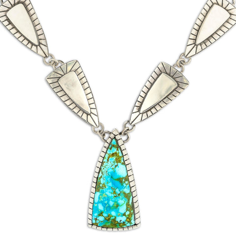 Gary Glandon Kingman Turquoise Arrow Necklace