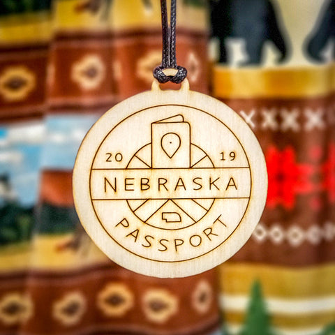 Nebraska Passport Christmas Ornament - Stagecoach