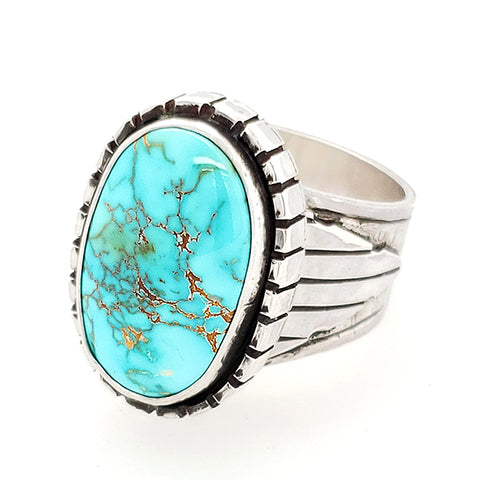 Natural Royston Turquoise Ring by Gary Glandon