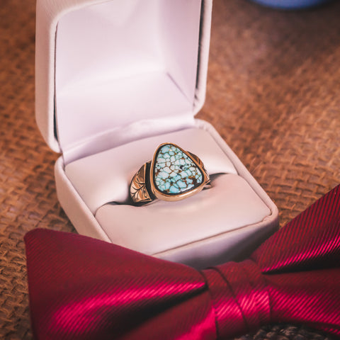 Skylar's Number 8 Turquoise Wedding Ring