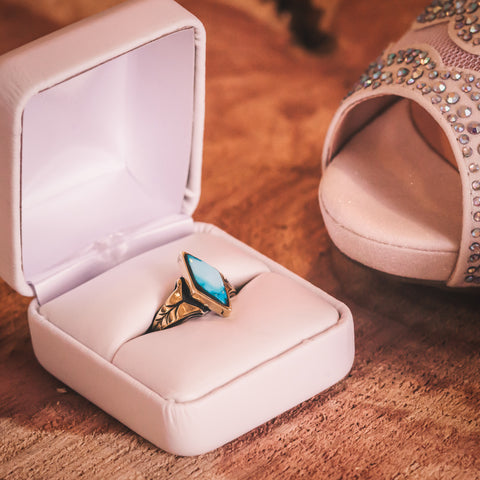 Tori's Turquoise Wedding Ring