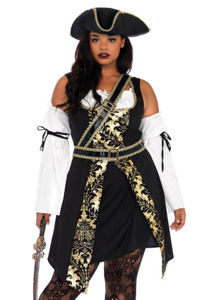 Black Sea Buccaneer Costume - Leg Avenue