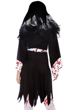Killer Nun Costume Back - Leg Avenue