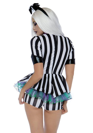 Beetle Babe Beetlejuice Costume Back - Leg Avenue