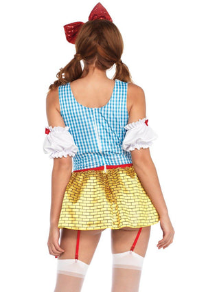 Yellow Brick Babe Costume Back - Leg Avenue