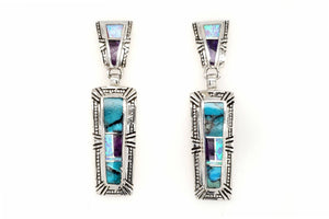 Beautiful Shalako Earrings by David Rosales - Turquoise Jewelry