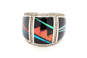 Bold David Rosales Red Moon Ring - Front