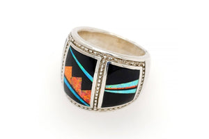 Bold David Rosales Red Moon Ring - Side