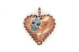 Copper Heart With Skull Pendant - Gary Glandon