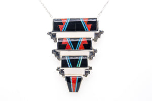 David Rosales 4-Layer Red Moon Slide - Native American Jewelry