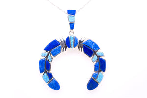 David Rosales Blue Sky Naja Pendant - Native American Jewelry