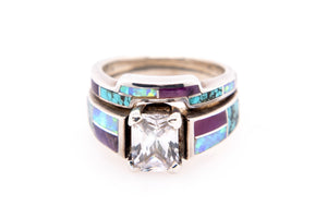 David Rosales Shalako Wedding Ring Set - Front