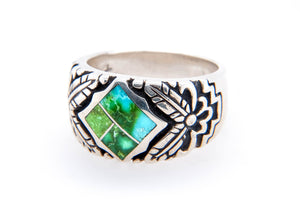David Rosales Sonoran Gold Turquoise Ring - Side