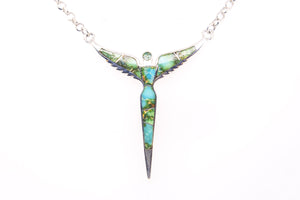 David Rosales Sonoran Turquoise Angel Necklace