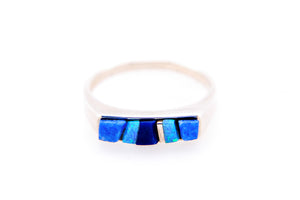 David Rosales Square Blue Sky Ring - Native American Jewelry