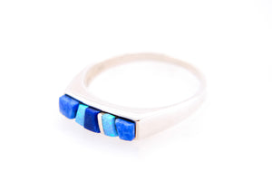 David Rosales Square Blue Sky Ring - Front