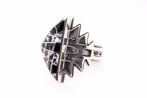 David Rosales White Buffalo Arrow Ring - Side