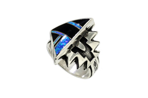 Native American Jewelry - David Rosales Black Beauty Arrow Ring