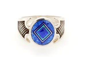 David Rosales Blue Sky Man's Ring - Front