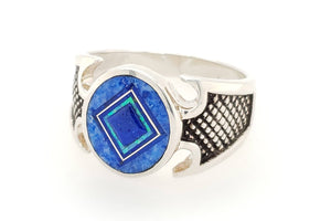 David Rosales Blue Sky Man's Ring - Side