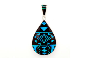David Rosales Fancy Black Beauty Teardrop Pendant