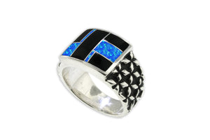 David Rosales Native American Men's Ring - Side