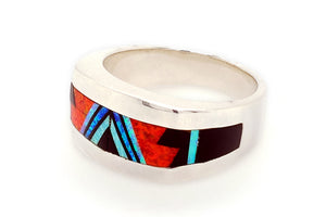 David Rosales Red Moon Man's Band Ring - Side