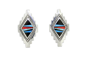David Rosales Red Moon Space Earrings - Native American Jewelry