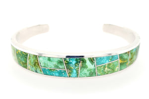 David Rosales Sonoran Gold Men's Turquoise Bracelet - Front